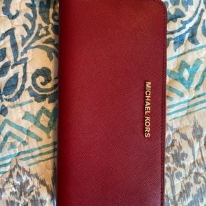 Red Michael Kors wallet new without tags